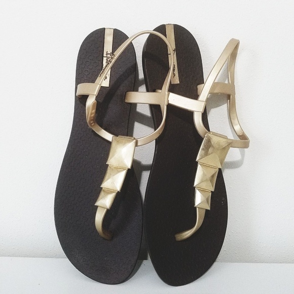 a328e4b02056d9 Ipanema Shoes - Ipanema Maya Jelly Gold Thong Sandals Size 10